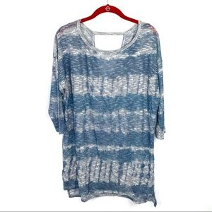 NWT A Pea in the Pod Large Maternity Blue Tunic
